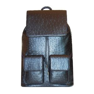 Handbags - SportsChic The Ostrich Backpack: Carbon